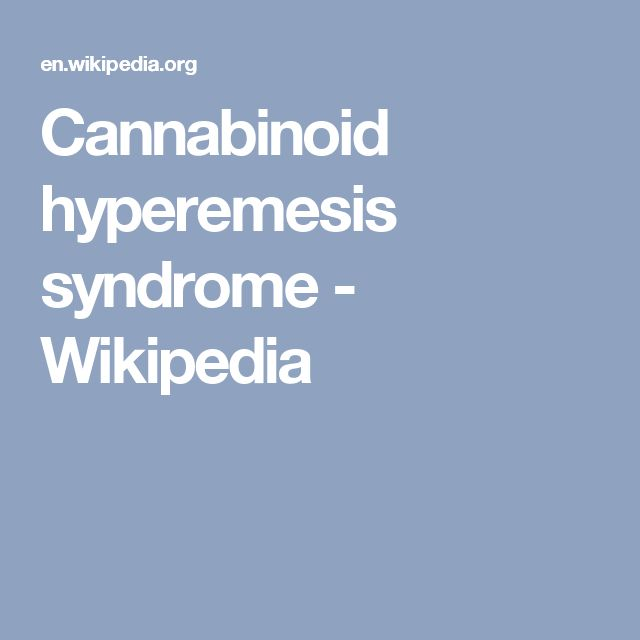 Cannabinoid hyperemesis syndrome - Wikipedia