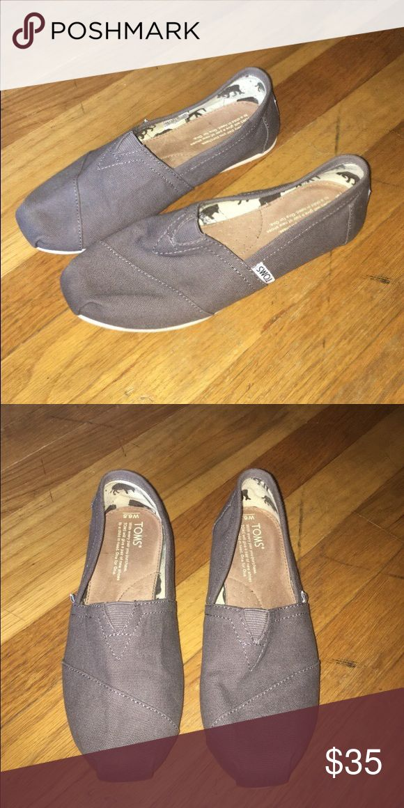 Women's gray Toms size 6.5 Gray toms size 6.5, In very good condition (only worn twice for very little time) TOMS Shoes Espadrilles