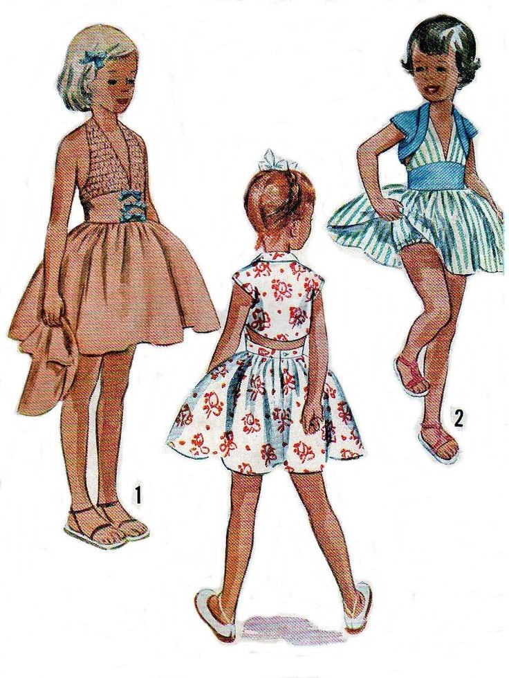 Vintage 1950s Sewing Pattern Girls Halter Sun Dress Bolero Jacket Sz 7 - 8 COPY Reproduction PRINTED COPY di BeautifulBabyVintage su Etsy https://www.etsy.com/it/listing/245884450/vintage-1950s-sewing-pattern-girls