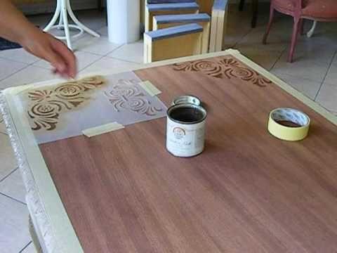 Metamorfoza biurka - 3. Ozdabianie i woskowanie blatu
