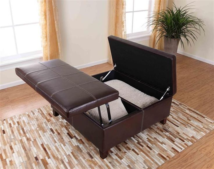 Dorel Asia Denton Storage Ottoman With Lift Top And