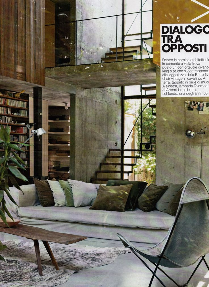 Love all the natural materials: Concrete, wood, glass - letting the outside in