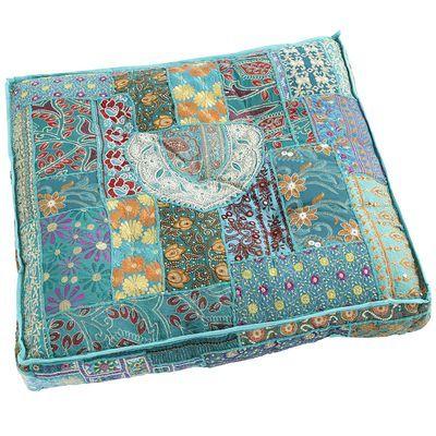 Sari Patch Floor Cushion - Teal