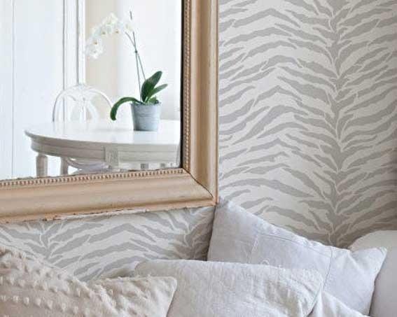 Stencils | Zebra Stripes Furniture Stencil | Royal Design Studio    http://www.royaldesignstudio.com/products/zebra-stripes-furniture-stencil#