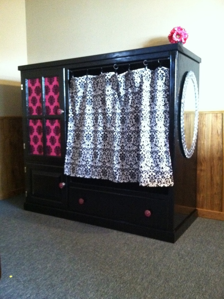 My Entertainment Center Turned Into Storage For Dress Up Clothes! DIY Dress  Up Wardrobe/ Center | Kids! | Pinterest | Diy Dress, Wardrobes And  Entertainment