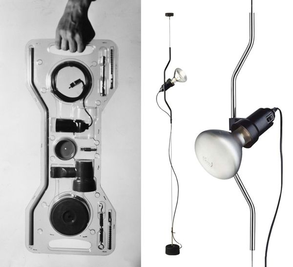 Designed by Pio Manzù and Achille Castiglioni. Many times imitated, never bettered. #FLOS #lighting