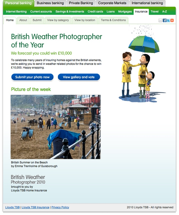 Lloyd TSB - Weather Competition - Home page