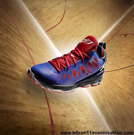 Buy New CP3 Shoes 2013 Chris Paul Jr PE Royal Blue Red Jordan CP3.VI