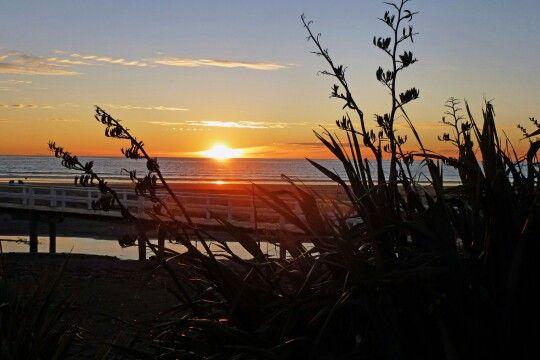 Sunset at Paekakariki, New Zealand.