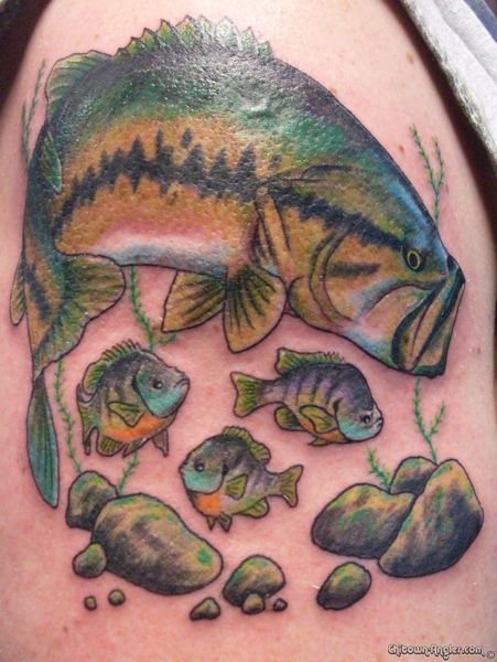 smallmouth bass fish tattoos images galleries with a bite. Black Bedroom Furniture Sets. Home Design Ideas