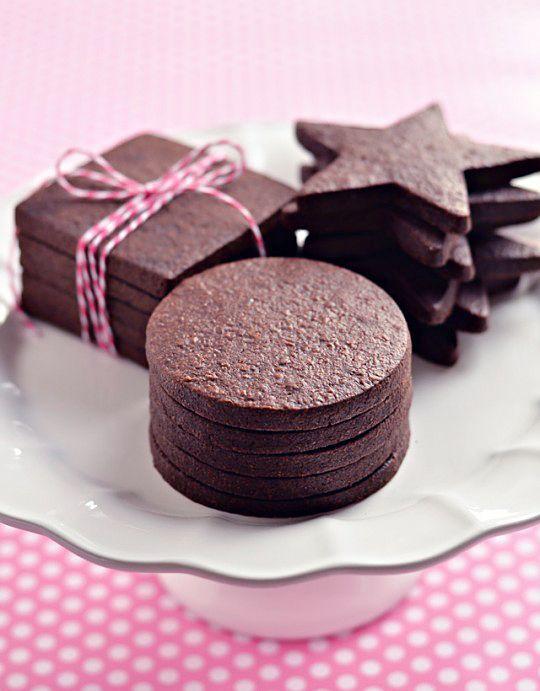Perfecto galleta de azúcar del chocolate oscuro a través Sweetapolita
