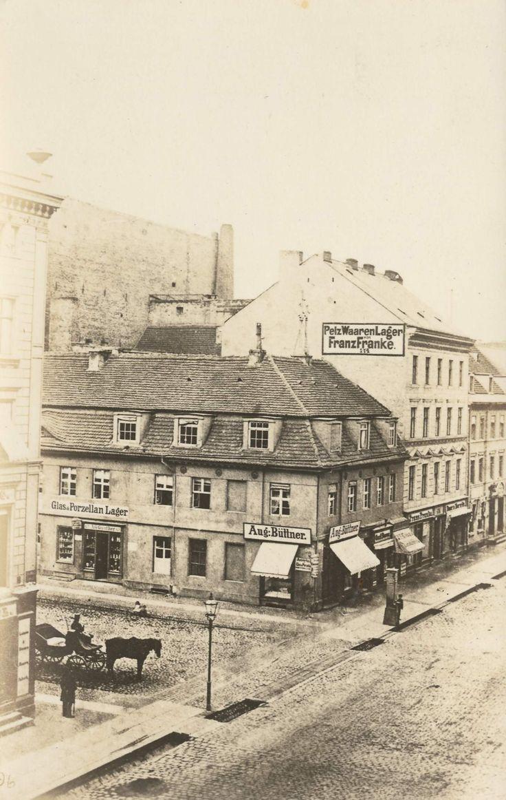 Friedrichstraße Ecke Jägerstraße Das Bild müsste so zwischen 1840–60 entstanden…