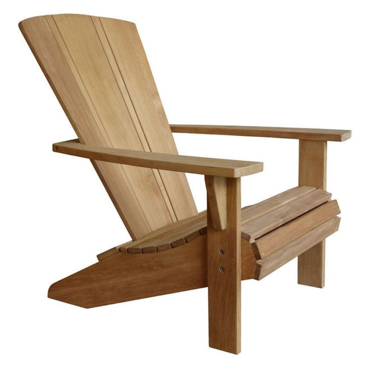 Douglas Nance Santa Fe Teak Outdoor Adirondack Chair - DN-1561