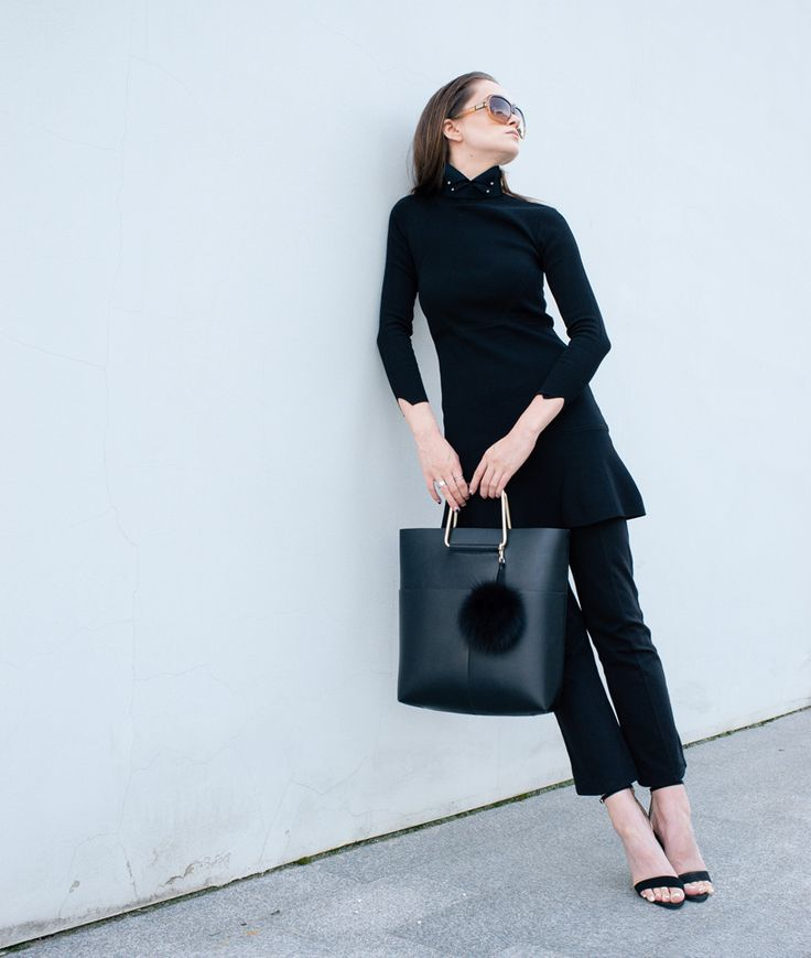 dress over pants, neo and lime, fashion blogger, choker, all black, inspo, inspiration, outfit, ootd, neoandlime