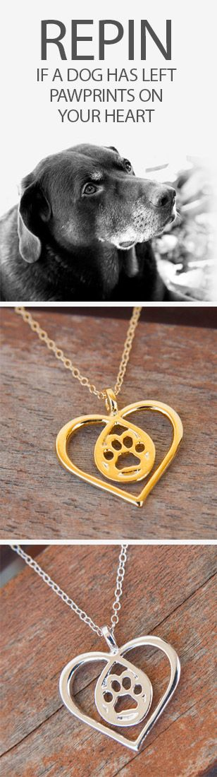 I love these! Great way to remember a furry friend who crossed the rainbow bridge! http://theilovedogssite.com/product/paw-in-heart-gold/?utm_source=PIN_RepinPawPrintHeart&utm_medium=link&utm_campaign=PIN_RepinPawPrintHeart