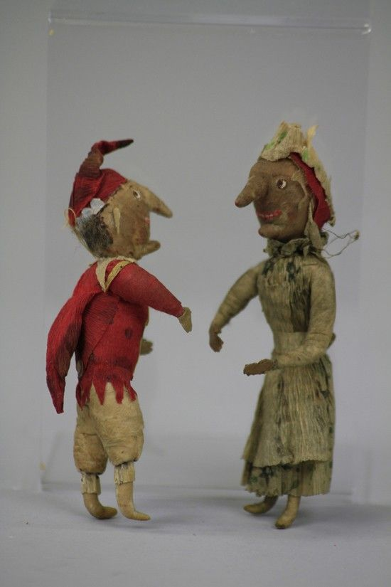 1406: RARE PRESSED COTTON PUNCH AND JUDY ORNAMENTS : Lot 1406