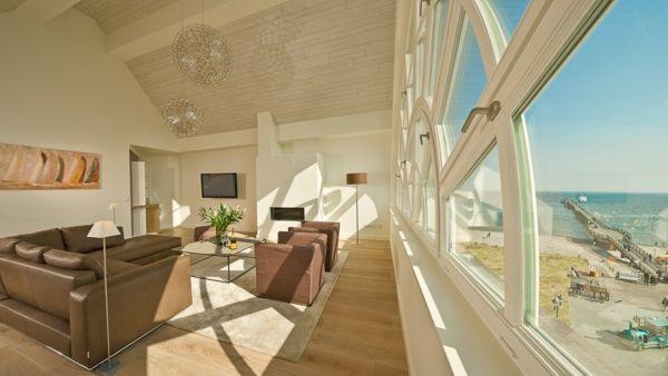 Luxus Penthaus Am Strand Wohnzimmer