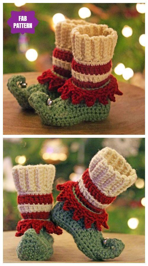 3088f1fa1 Crochet Elf Slippers Free Crochet Patterns & Paid   Crochet ...