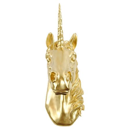 this? is a signature piece!!!: Faux Taxidermy, Wall Decor, Unicorn Head, Gold Wall, White Faux, Unicorns, Room