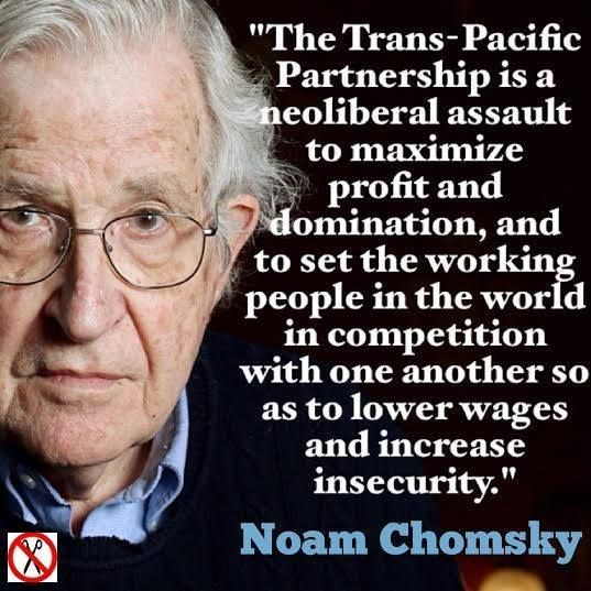 ~ Noam Chomsky  In other words, the US didn't stop using sweat shop labor, we just exported it outside of our own borders.