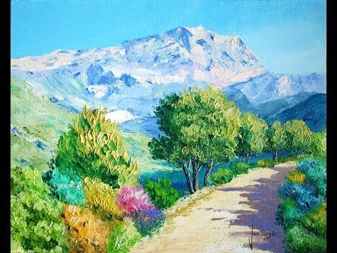 Как нарисовать горный пейзаж. Студия живописи валенсия - YouTube