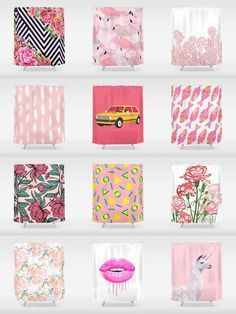 Society6 Pink Shower Curtains - Add a bold statement to your bathroom with Society6 Shower Curtains. Want more? We also have bath mats and towels!