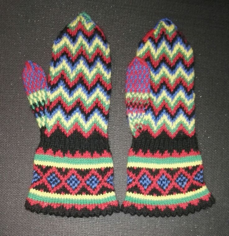 The inspiration of these mittens comes from north, Lappland