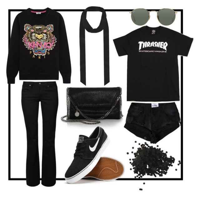 Fave pieces from my closet by fashiondisguise on Polyvore featuring Kenzo, Mavi, STELLA McCARTNEY, Ray-Ban and Topshop