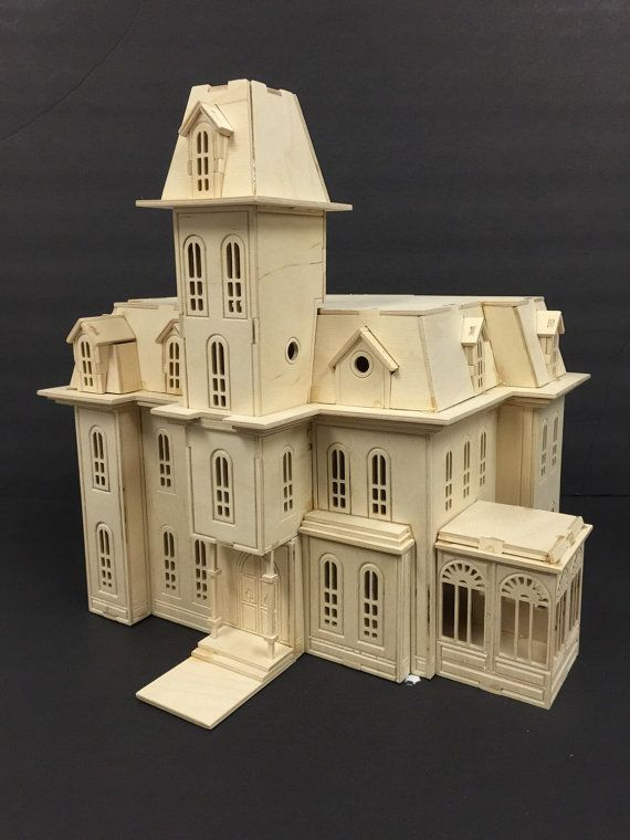 Addam's Family House 3D Model Kit by Birdswoodshack on Etsy
