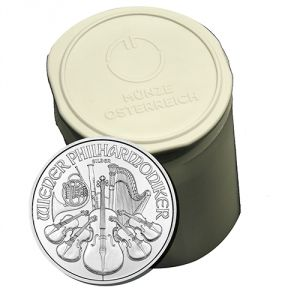The Austrian Mint in Vienna has released the 2016 Philharmonic Silver Coins. Minted in pure silver with a magnificent finish, they are Europe's best selling silver bullion coins. Each Austrian Philharmonic Silver coin contains 1 troy ounce of pure .999 silver. The 2016 Austrian Philharmonics are recognized worldwide as dependable silver coin investments making them one of the easiest to sell, trade, or barter with, anywhere in the world.