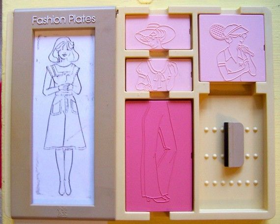 Barbie Fashion Plates Rubbing Fashion Plates
