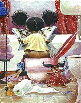 It's A Black Thang.com - African American Children Related Art Work ~  LOl!!!  Too Cute!