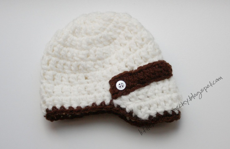 Crochet Baby Hat Pattern With Brim : 17 Best images about Newsboy hat on Pinterest Free ...