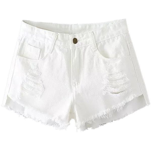 25  best ideas about White Jean Shorts on Pinterest | Cutoff jean ...