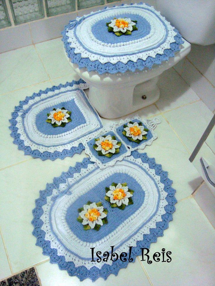 Jogo de banheiro de crochê + brinde | Arte em Linhas - Crochê e Tricô | Elo7