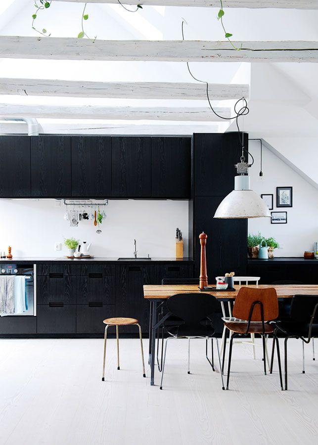 cuisine armoires de cuisine noirs cuisines noires garde manger cuisines modernes dcorer la cuisine maison matte kitchen kitchen fav