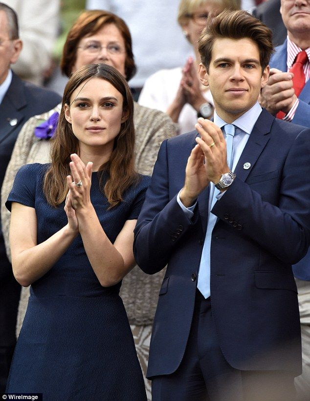 Applause: Keira Knightley and James Righton enjoyed the match
