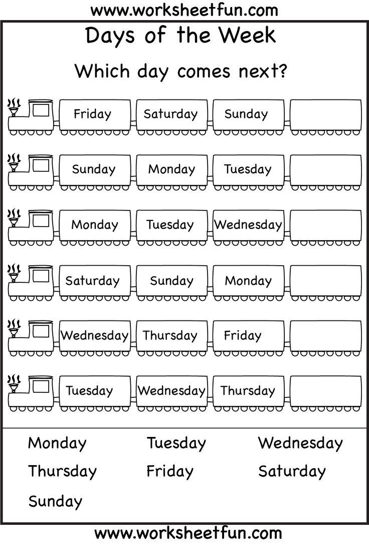 Days of the Week Worksheets 1ª Eval. | BIGBRAINBOX