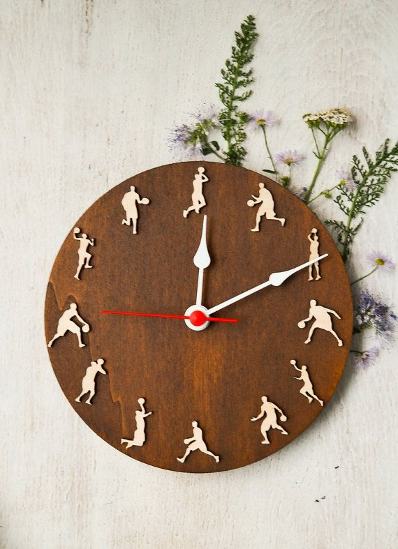Sport Basketball clock Christmas gift for by MustHaveGift on Etsy