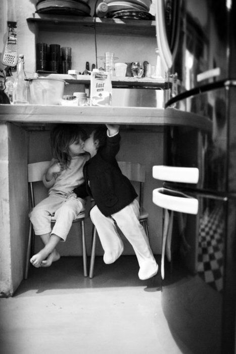 kissing under the table.