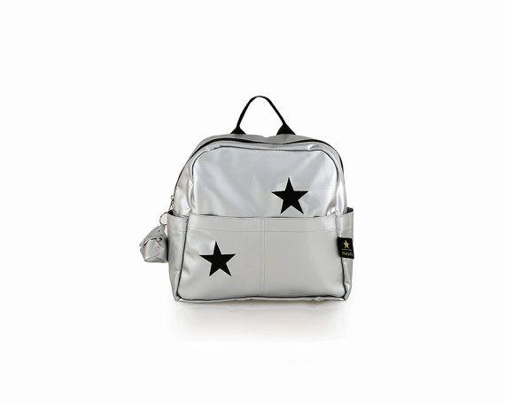 Toddler backpack Silver girl backpack Stars by starjellyTLV