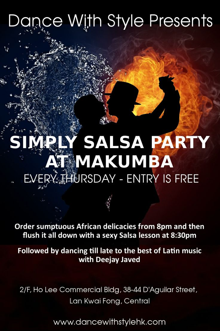 Created by www.ellenchungsk.com | FLYERS for SALSA PARTY at MAKUMBA HONG KONG