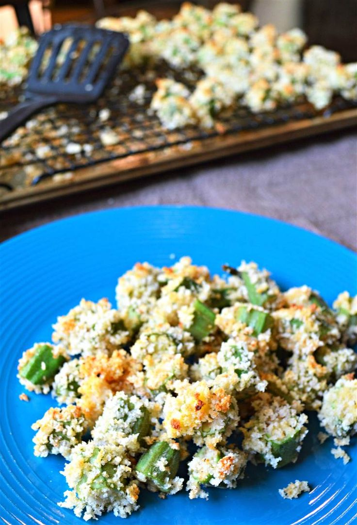 Oven-baked crunchy okra recipe by TODAY Food Club member Julie from The Healthy Home Cook