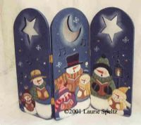Laurie Speltz: Carolers Fence