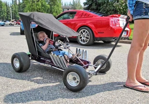 Best Stroller Ever! Lucky kid. Volo Auto Museum, Volo, IL. #mom #kids #Stroller