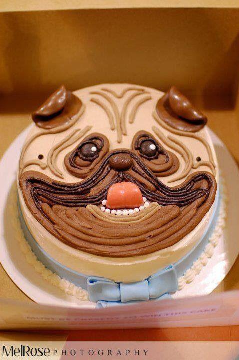 Pug Cake Ok So Its Not Gum Paste But I So Love Pugs