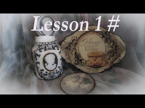 Decoupage Tutorial For Beginners Lesson 1# - Ντεκουπάζ Για Αρχάριους - YouTube