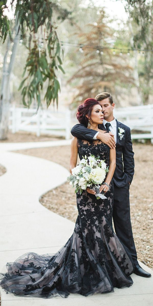 The 25  best Black wedding dresses ideas on Pinterest | Black ...