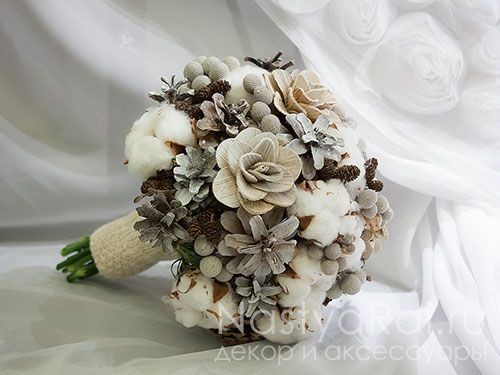 Фото. Зимний букет невесты.