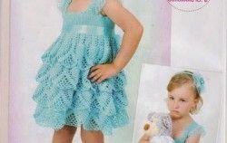 Vestidos crochet para niña
